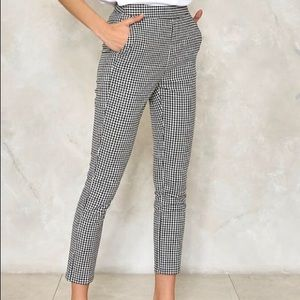 Nasty gal plaid crop pants
